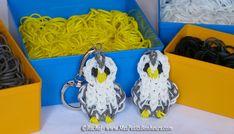 Tuto Rainbow Loom - Chouette blanche et grise