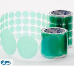 EPSI - AD12 Series - Green Poly Discs [With Slit Back Liner] - MIT Powder Coatings Online Store Masking Tape, Dog Bowls, Powder, Store, Green, Stuff To Buy, Duct Tape, Face Powder, Larger