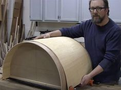 Creating a curve in a piece can add a unique look to your next woodworking project. Brad Holden demonstrates the technique he used to create a bendable plywood base for his bathroom vanity.
