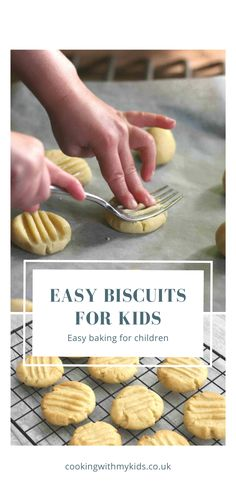 With only 3 ingredients, the simple fork biscuit is the easiest biscuit recipe for kids, so are the perfect thing for getting children busy in the kitchen. egg ingredients baking recipes 3 ingredients for kids Easy biscuits for kids Easy Biscuit Recipe 3 Ingredients, Biscuit Recipe For Kids, No Egg Cookie Recipe, Cookie Recipes For Kids, Healthy Cookie Recipes, Easy Baking Recipes, Recipes For Children, Simple Biscuit Recipe, Easy Baking For Kids