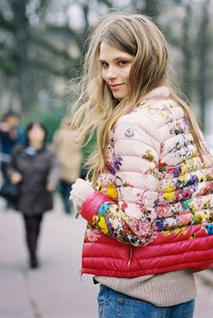 """But what if April showers DON'T bring May flowers?"" Claudia wondered as she painted Janine's puffer jacket."