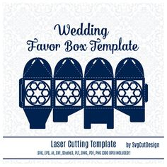 Lace Wedding Favor Box Template Laser cutting Commercial Use Candy Gift Party Box SVG Lasercut Laser Cut Silhouette Cameo die cutting files Silhouette Cameo, Candy Box Template, Paper Cut Design, Paper Cutting, Die Cutting, Cutting Files, Wedding Favor Boxes, Party In A Box, Candy Gifts