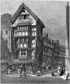 Houses on the Corner of Chancery Lane & Fleet St – Drawn August 1789, Taken Down May 1799