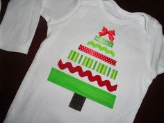 Christmas tree shirt DIY Christmas Shirts For Kids, Christmas Sewing, Diy Christmas Tree, Ugly Christmas Sweater, Kids Christmas, Christmas Onesie, Christmas Dresses, Christmas Jumpers, Thanksgiving Holiday