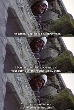 Monty Python and the Holy Grail (1975)!! Must read in the outrageous French accent.