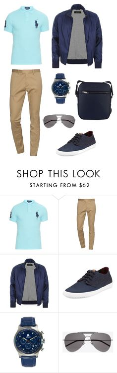 """""""Men's Casual"""" by vanessalegata ❤ liked on Polyvore featuring Polo Ralph Lauren, Dsquared2, Gucci, Ben Sherman, Areion, Yves Saint Laurent, MICHAEL Michael Kors, men's fashion and menswear"""