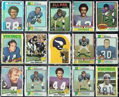 1970's MINNESOTA VIKINGS FOOTBALL VINTAGE CARD COLLAGE (EX+) #MinnesotaVikings
