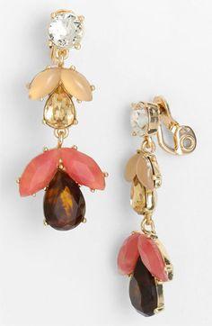 Anne Klein    'Burst & Bloom' Statement Clip Earrings