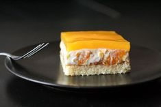 Smotanové rezy s mandarínkami Cheesecake, Pie, Cooking Recipes, Treats, Candy, Cookies, Baking, Sweet, Food