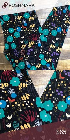 BLACK Background NEW TC Lularoe Leggings Black Background! NEW TC Lularoe Leggings with fun retro Floral Print! All items in my closet come from a smoke free home and will be packaged with care 💌.   Price firm unless bundled with more listings for an additional discount, plus save on shipping! No rude comments including those about pricing, or you will be reported to Poshmark. LuLaRoe Other