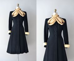vintage 1930s coat / princess coat / Million Dollar Baby.