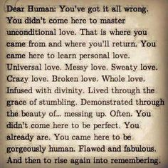 Happily flawed!