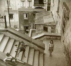 Rudy Burckhardt  Three Children (Naples, Italy)  1946 (later print)  gelatin-silver print  9 1/4 x 6 inches