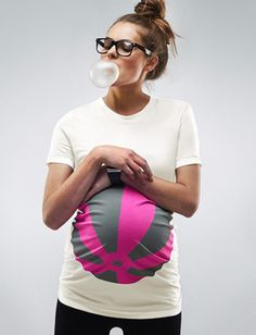 Pink Beachball T shirt - Maternity clothes for modern, fashionable, pregnant moms to be - Mamagama