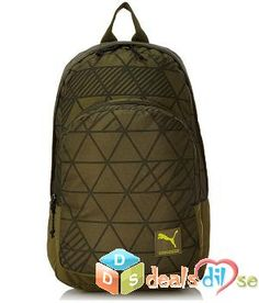 bc7a930977 Puma Burnt Olive and Factured Camo Casual Backpack @ Rs.919/- Online Deals