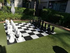 """Titi on Instagram: """"""""Chess is beautiful enough to waste your life for."""" 🖤  #chess #chessboard #outdoorchess #lifesizechess #life #beauty…"""" Chess, Your Life, Backyard Ideas, Outdoor, Beautiful, Beauty, Instagram, Gingham, Outdoors"""