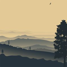 Peaceful Mountain View Mural - Andy K.  Murals Your Way