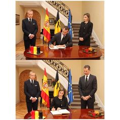 The King and Queen of Spain visited a Belgian Embassy in Madrid, Spain on March 23 2016.