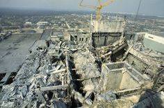 Chernobyl plant after explosion (by Igor Kostin)