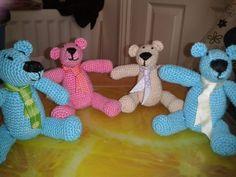 Crochet bears by Donna