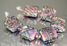 Pearly Karpel Lampwork Multicolor Pillow Beads by pearlykarpelgift, $7.00