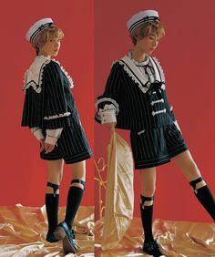 """""""omg I saw these cute lolita outfits and I thought: imagine narancia and trish in them 😭😭😭💕"""" Kawaii Fashion, Lolita Fashion, Cute Fashion, Harajuku Fashion, Fashion Outfits, Rock Fashion, Fashion Edgy, Fashion 2018, Fashion Boots"""