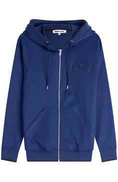 MCQ ALEXANDER MCQUEEN Cotton Blend Zipped Hoodie. #mcqalexandermcqueen #cloth #hoodies