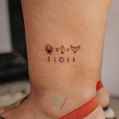 Hawaiianisches Tattoo, Bff Tattoos, Tattoo Motive, Mini Tattoos, Sexy Tattoos, Tatoos, Classy Tattoos, Subtle Tattoos, Dainty Tattoos