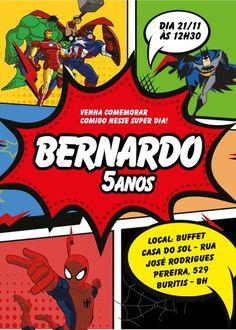Convite virtual Vingadores Super Herois