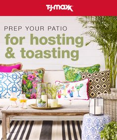 Get amazing savings on outdoor pillows, rugs, lanterns & so much more at T.J.Maxx and tjmaxx.com.