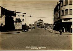 """RUA CARLOS DE CARVALHO, MARÇO DE 1945 - foto wischral- Fotos """"ANTIGAMENTE EM CURITIBA"""""""