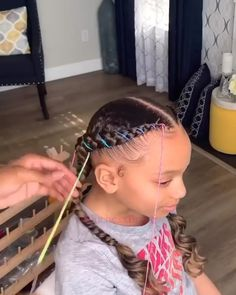 Black Little Girl Hairstyles, Kids Curly Hairstyles, Baby Girl Hairstyles, Mixed Kids Hairstyles, Toddler Braided Hairstyles, Toddler Braids, Black Hairstyles, Weave Hairstyles, Little Girl Braids