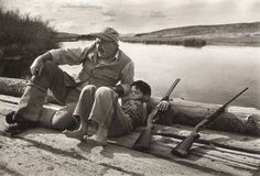 Ernest Hemingway with his son Gregory