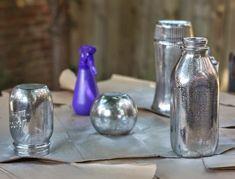 Aprende a pintar unos frascos de vidrio con terminado metalizado   Te damos la bienvenida a tu blog de manualidades paso a paso  mimundomanu...