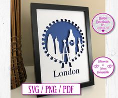 London City Paper Cut Digital Download by JumbleinkDesign on Etsy City Paper, Handmade Items, Handmade Gifts, London City, Paper Cutting, Digital, Frame, Etsy, Design