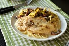 Chicken Breasts in Lemon Cream Sauce - the small amount of flour in this recipe is simply to dredge and adds little carbs, but I would personally give coconut flour a try - just healthier all around