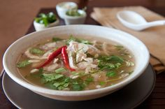 Thai Shredded Chicken and Lemongrass Soup | Tom Yum Gai | rachelcooksthai.com