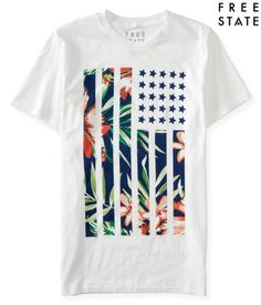 Free State Hibiscus Flag Graphic T - Aéropostale®