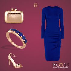Dress up for the new age. Complete your Saturday night party look with the Blue Sapphire Half Eternity Ring from INCOCU. #saturdayNight #Collection #dressup #Idea