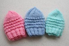 Just My Size Preemie Hat Pattern (Knit) « All Crafts For Charity