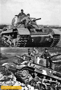 Turán 40.M kutyussal a fedélzeten. Turán 41.M Hajmáskéren terep gyakorlaton. Ww2 History, Military History, Stuck In The Mud, Tank Destroyer, War Dogs, Ww2 Tanks, Time Photo, Military Army, Second World