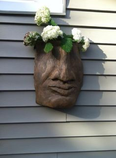 head with flowers, 2014