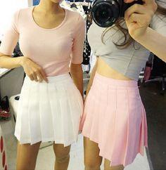 Students sweet pleated skirt