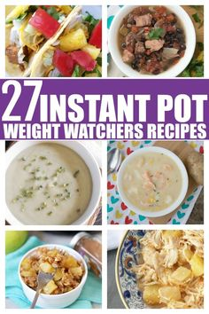 Looking for quick and easy Instant pot weight watchers recipes? Then you are in luck! This list of Weight Watchers Instant pot recipes is filled with easy and tasty Weight Watchers recipes! Potluck Recipes, Ww Recipes, Recipes Dinner, Cooking Recipes, Healthy Recipes, Delicious Recipes, Healthy Foods, Soup Recipes, Recipies