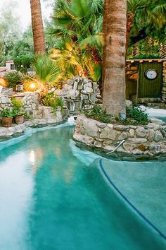 Try these natural hot springs resorts and spas in the Palm Springs area  Image Courtesy of Two Bunch Palms