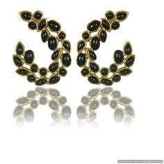 Kshitij Jewels Black Wine Twig Earrings