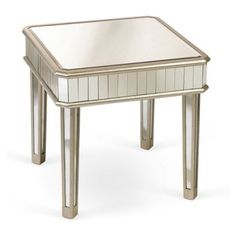 Check out this item at One Kings Lane! Cecily Mirrored Side Table, Silver