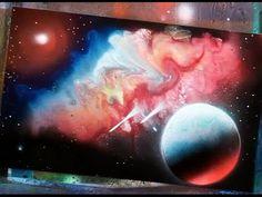 spray paint art secrets how to spray paint galaxies, nebulas, aurora, mo...