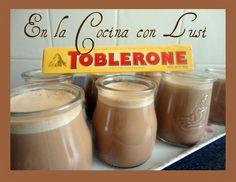 En la cocina con Lusi: Yogur de TOBLERONE Toblerone, Yogurt, Cocoa, Dairy, Cheese, Desserts, Chocolates, Mousse, Blog