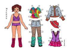 Karen`s Paper Dolls: Malene Paper Doll Onesheet in Colours. Malene…